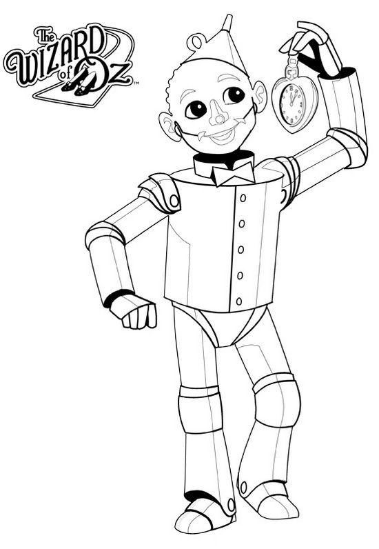 tin man coloring page tin man from wizard of oz coloring page wizard of oz tin coloring man page