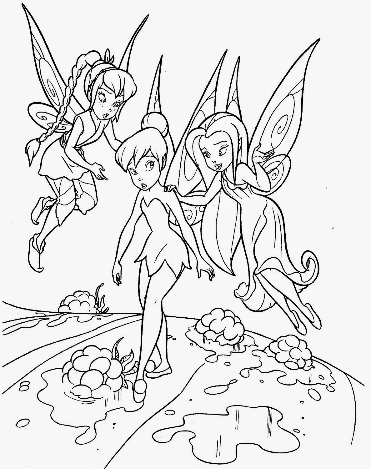 Tinkerbell for coloring