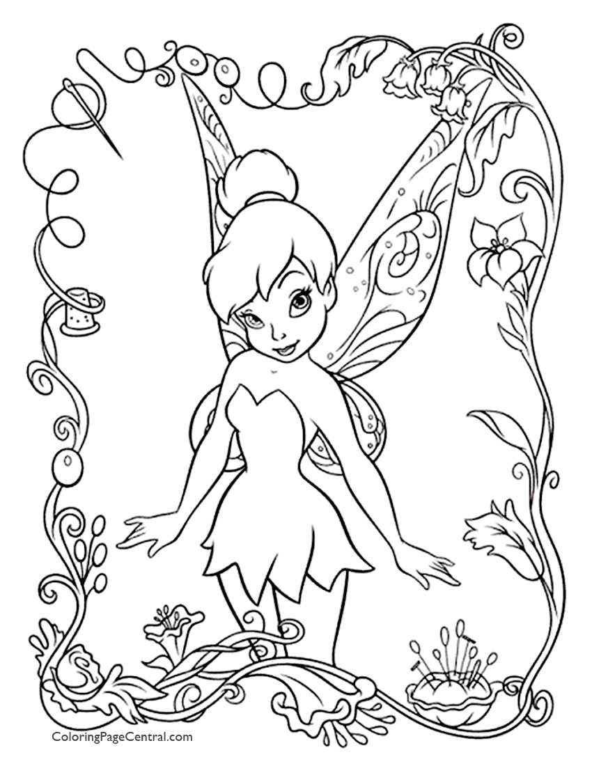 tinkerbell for coloring tinker bell coloring pages 02 tinkerbell for coloring