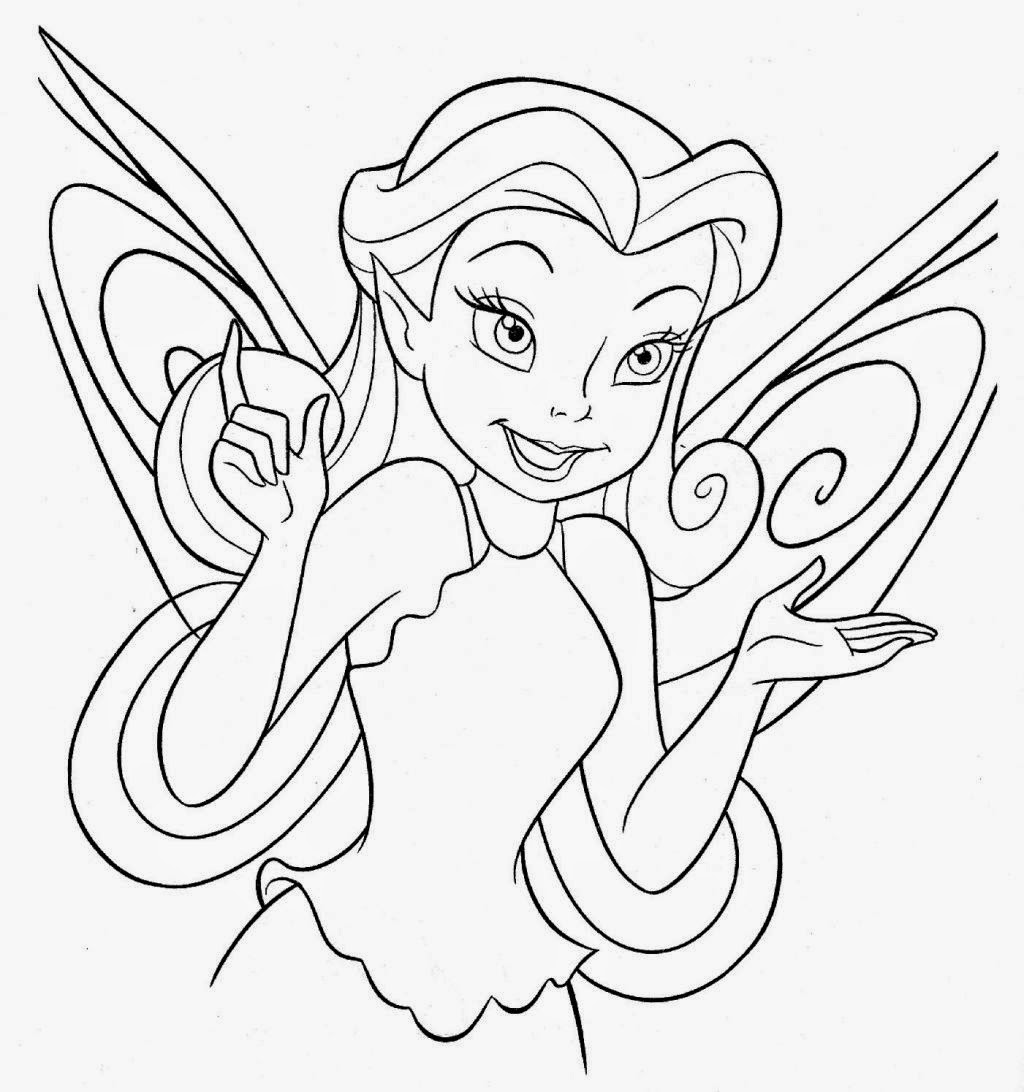 tinkerbell for coloring tinkerbell easy drawing at getdrawings free download for tinkerbell coloring
