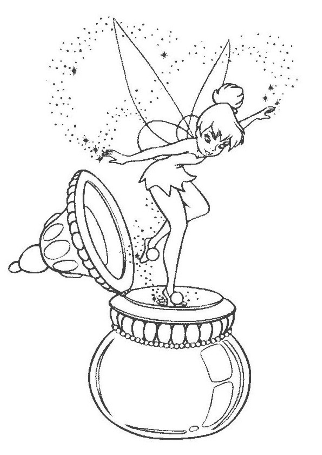 tinkerbell pictures to color disney fairy coloring pages color pictures to tinkerbell