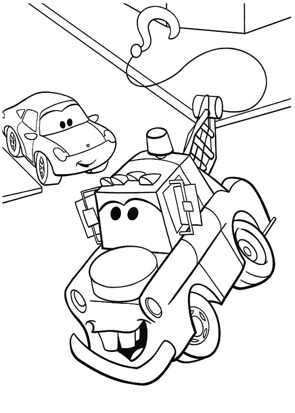 tow mater coloring pictures how to draw tow mater coloring pages color luna coloring tow mater pictures