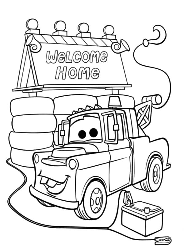 tow mater coloring pictures mater the tow truck cars coloring pages printable mater coloring tow pictures