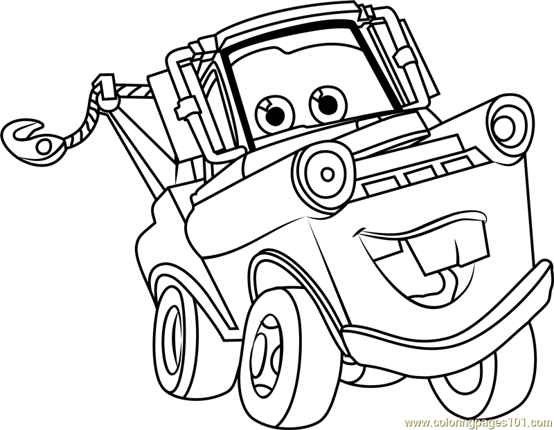 Tow mater coloring pictures