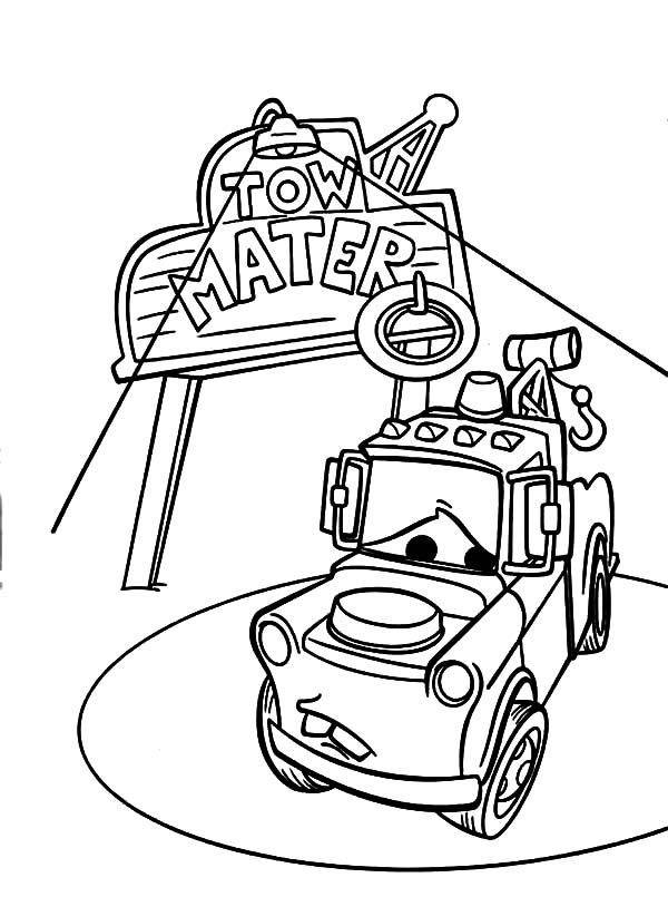 tow mater coloring pictures tow mater coloring page coloring pages 4 u tow coloring pictures mater