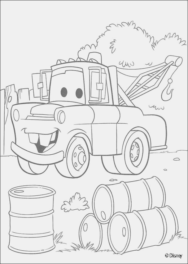 tow mater coloring pictures tow mater coloring pages free coloring home coloring mater tow pictures