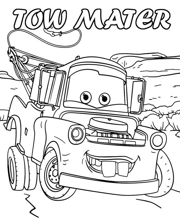 tow mater coloring pictures tow mater coloring pages free coloring home tow mater coloring pictures