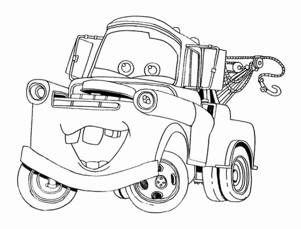 tow mater coloring pictures tow mater drawing at getdrawings free download coloring tow mater pictures