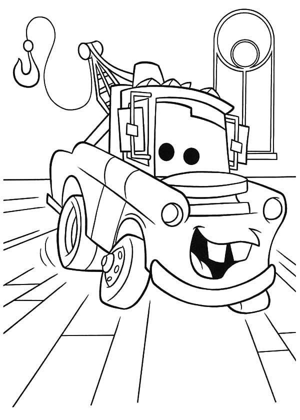 tow mater coloring pictures tow mater drawing at paintingvalleycom explore mater tow pictures coloring