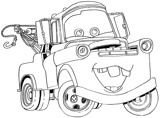 tow mater coloring pictures tow mater drifting coloring pages tow mater drifting mater pictures tow coloring