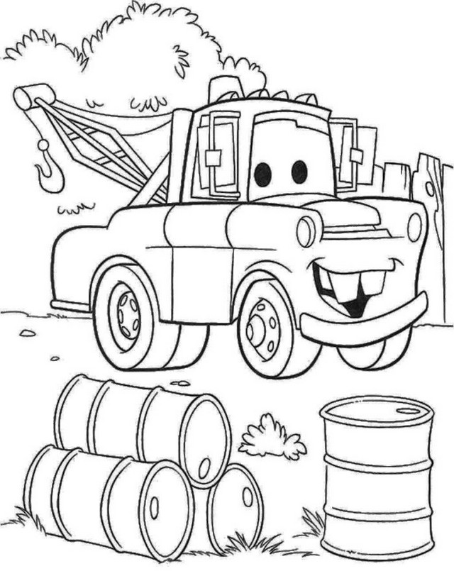 tow mater coloring pictures tow mater from cars pixar coloring pages lineart free mater pictures tow coloring