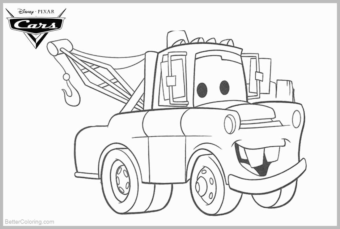 tow mater coloring pictures tow mater loved by his friends coloring pages color luna mater coloring tow pictures