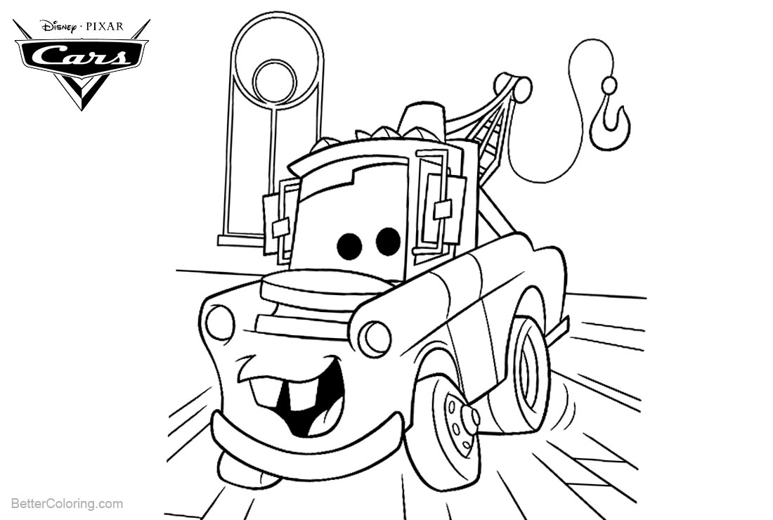 tow mater coloring pictures tow mater sketch at paintingvalleycom explore mater tow pictures coloring