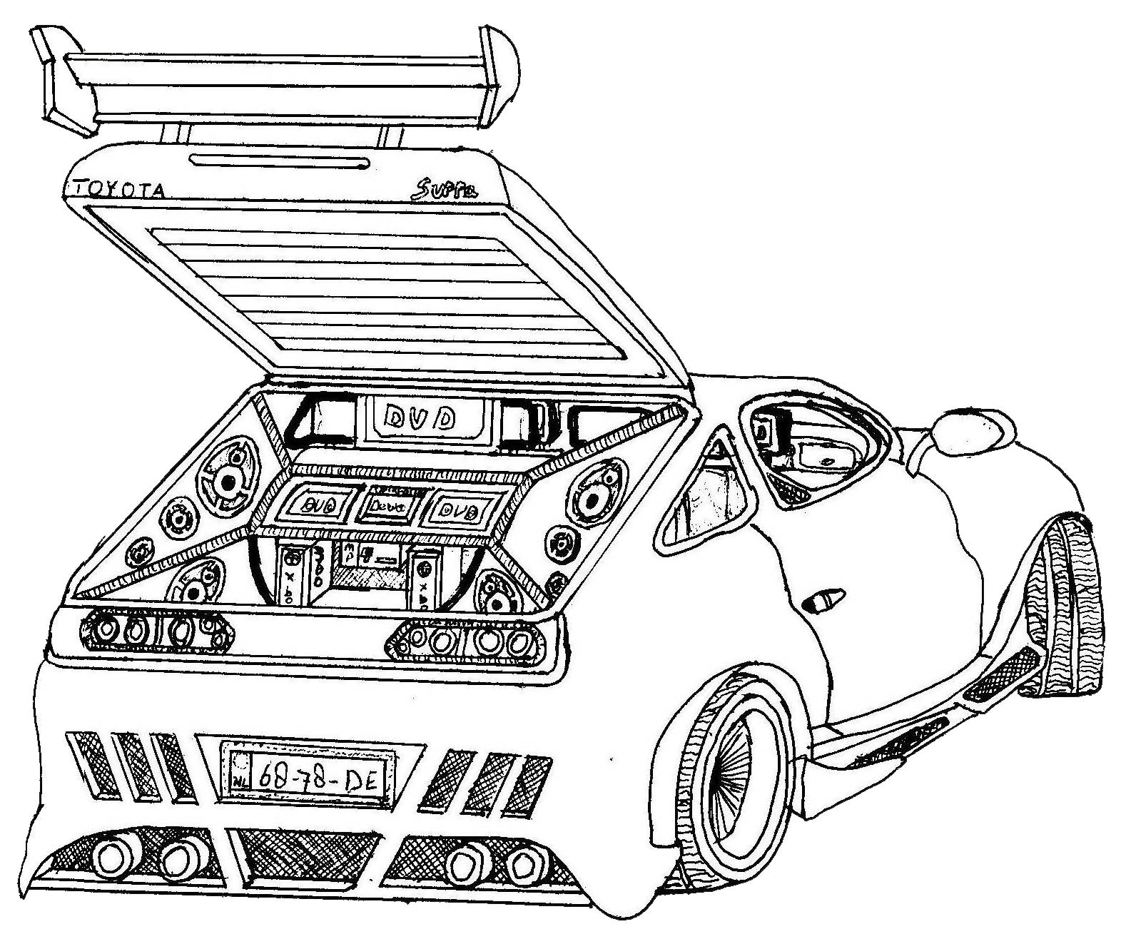 toyota car coloring pages free car colouring pages downloads of ferrari f40 toyota toyota coloring car pages