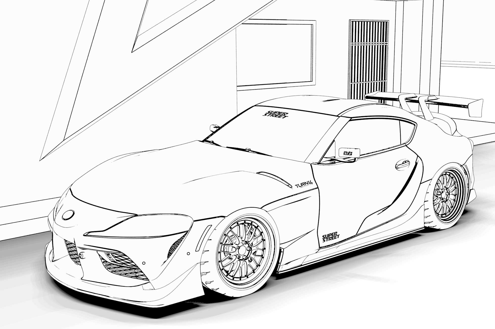 toyota car coloring pages toyota coloring page coloring pages car pages coloring toyota