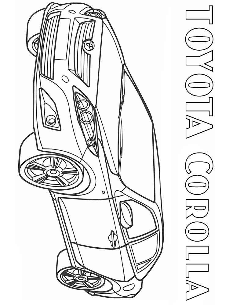 toyota car coloring pages toyota coloring pages at getcoloringscom free printable car toyota pages coloring