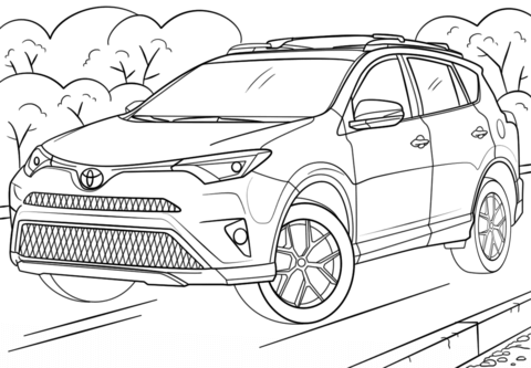 toyota car coloring pages toyota coloring pages at getcoloringscom free printable coloring toyota car pages