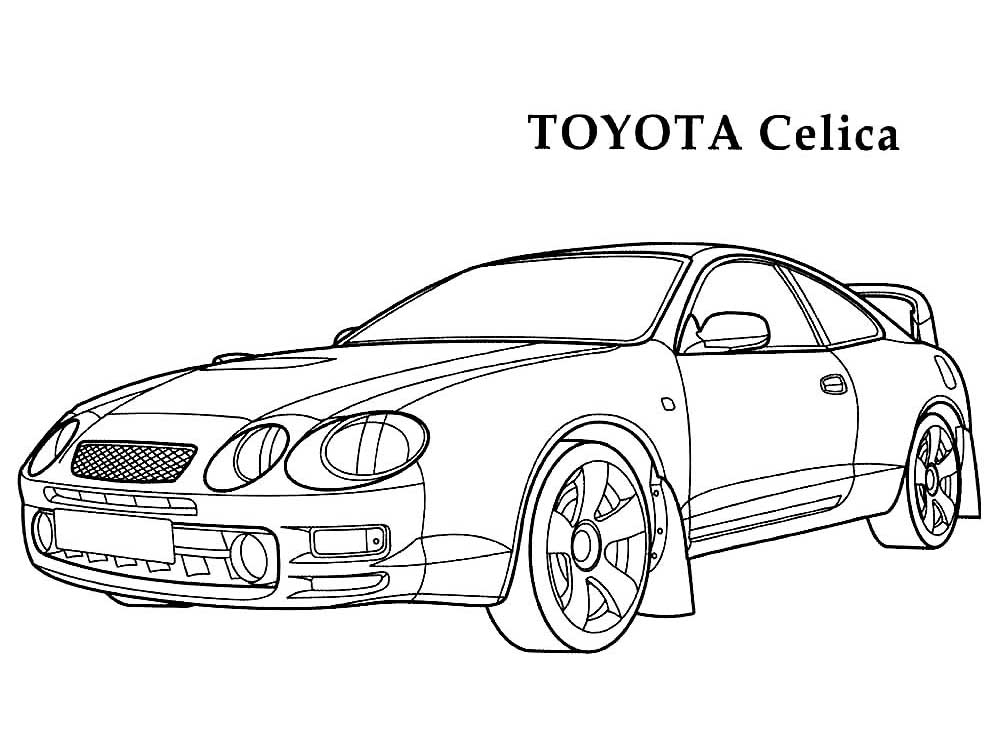 toyota car coloring pages toyota coloring pages at getcoloringscom free printable pages car coloring toyota