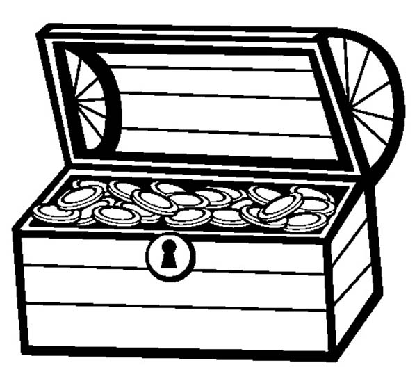 treasure chest coloring page a classic treasure chest from colonial time coloring page treasure coloring page chest