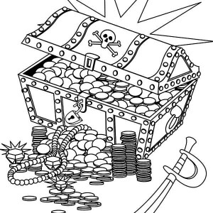 treasure chest coloring page a classic wooden treasure chest coloring page kids play coloring treasure page chest