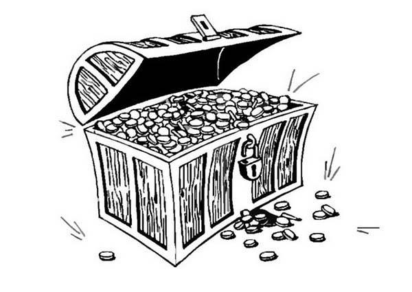 treasure chest coloring page a drawing of treasure chest in bold line coloring page page chest coloring treasure