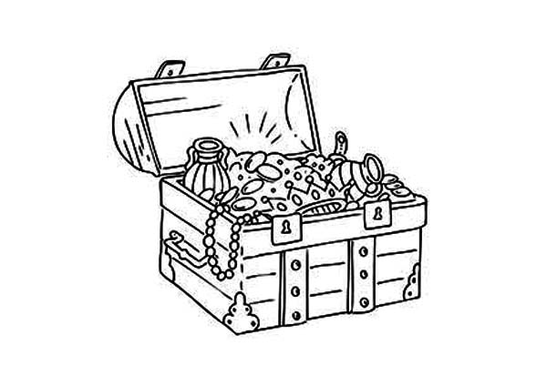 treasure chest coloring page a pencil drawing of treasure chest coloring page kids treasure page chest coloring