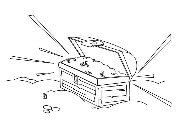 treasure chest coloring page a pirate flag and its treasure chest coloring page kids coloring page chest treasure