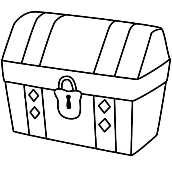 treasure chest coloring page a simple drawing of locked treasure chest coloring page page treasure coloring chest