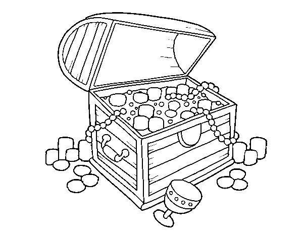 treasure chest coloring page a spanish wooden treasure chest with lots of jewelry treasure chest page coloring