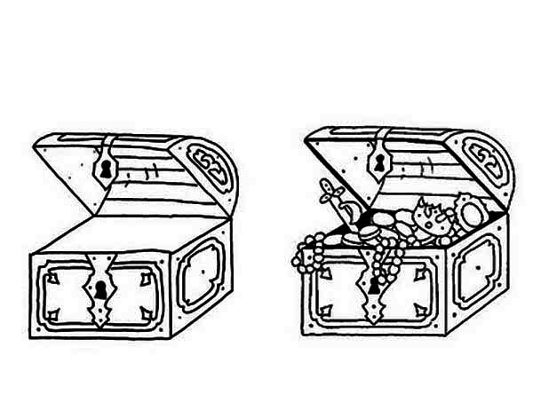 treasure chest coloring page a sparkling treasure chest with gold coin inside coloring treasure coloring page chest