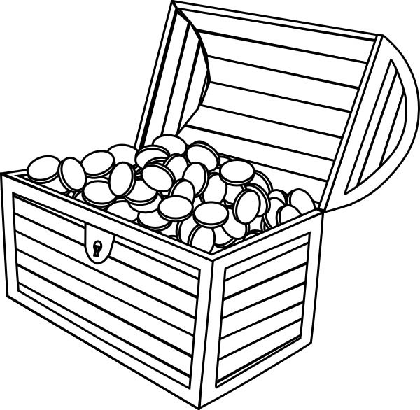 treasure chest coloring page an opened treasure chest found coloring page kids play color page coloring chest treasure