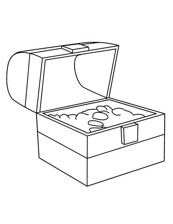treasure chest coloring page an opened treasure chest full of gold coins coloring page page treasure chest coloring