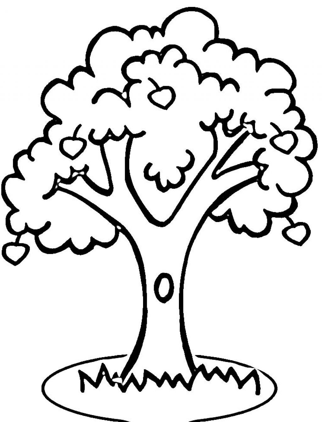 tree coloring fig tree coloring page at getcoloringscom free tree coloring