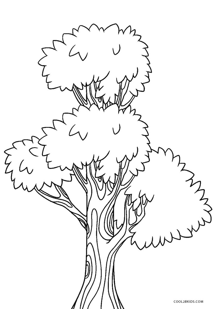 tree coloring pages free printable tree coloring pages for kids pages tree coloring
