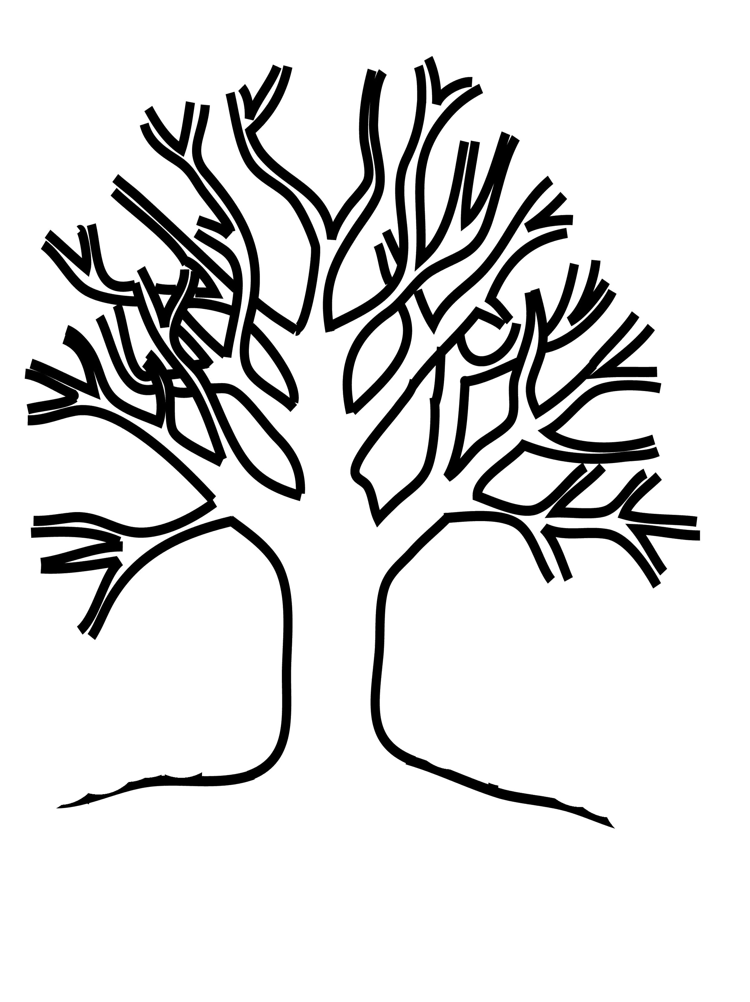 tree coloring pages tree without leaves coloring page to print and download coloring pages tree