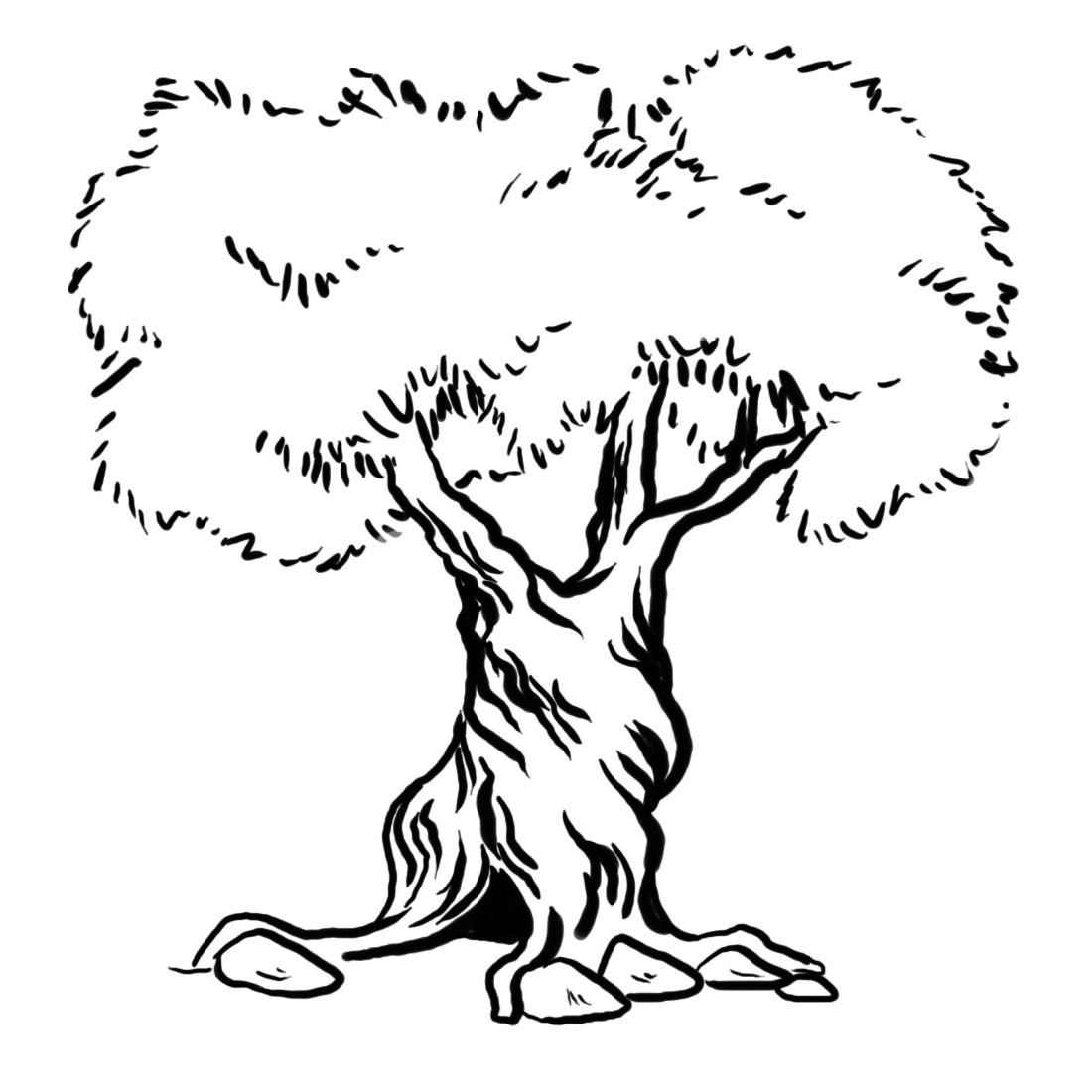 tree coloring simple tree coloring page coloring home coloring tree