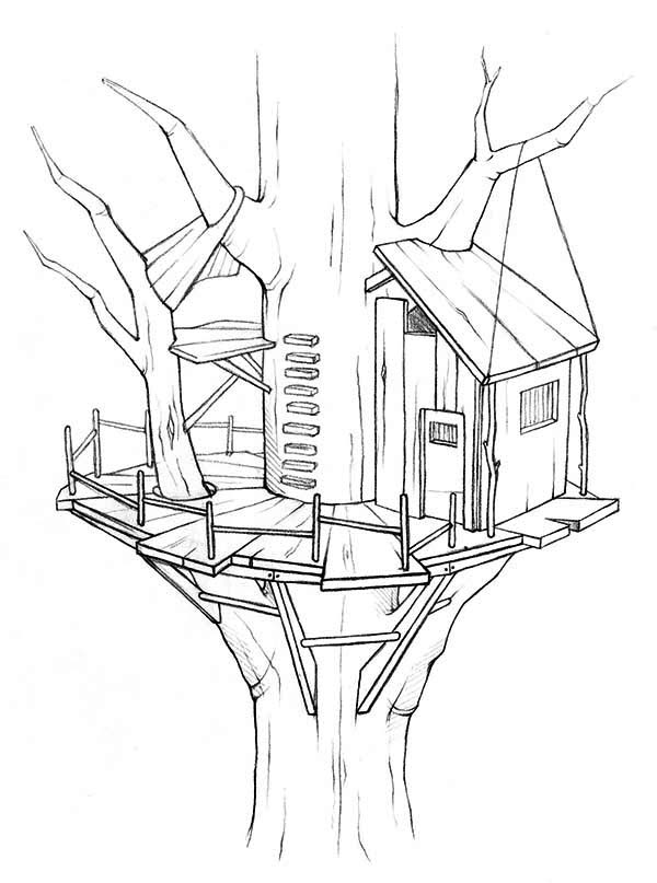 treehouse coloring pages awesome treehouse coloring page color luna pages treehouse coloring