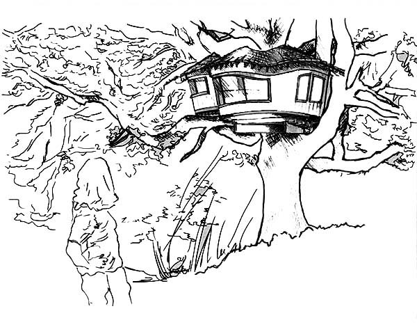 treehouse coloring pages free tree house coloring pages coloring home coloring pages treehouse