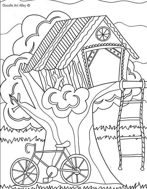 treehouse coloring pages summer coloring pages pages treehouse coloring