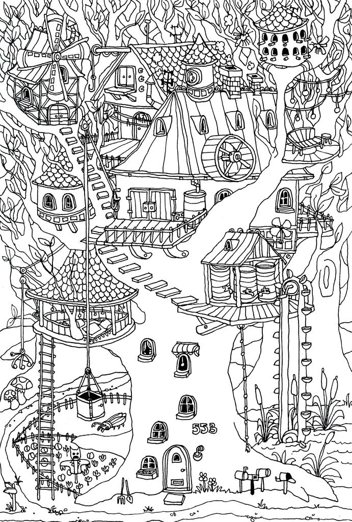 treehouse coloring pages tree house 13 buildings and architecture printable coloring pages treehouse