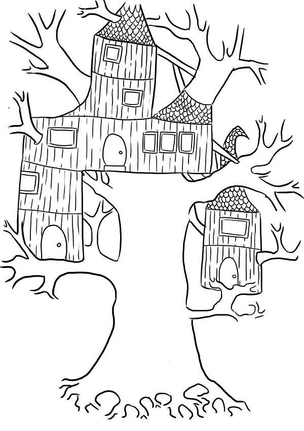 treehouse coloring pages tree house coloring pages getcoloringpagescom coloring treehouse pages
