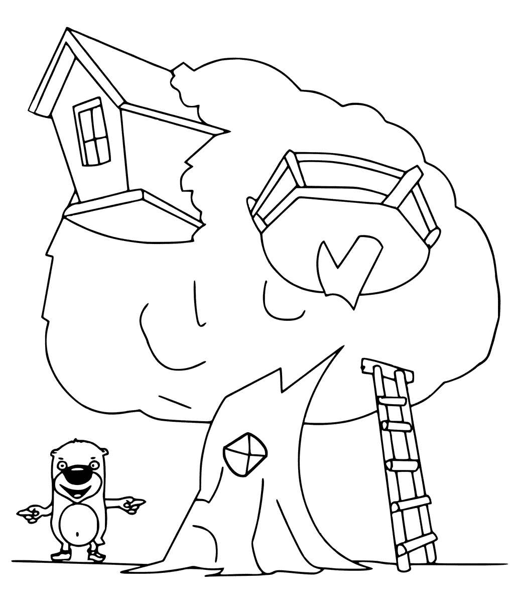 treehouse coloring pages treehouse coloring pages best coloring pages for kids treehouse coloring pages
