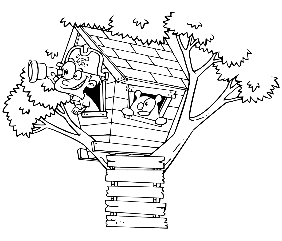treehouse coloring pages treehouse coloring pages best coloring pages for kids treehouse coloring pages 1 1