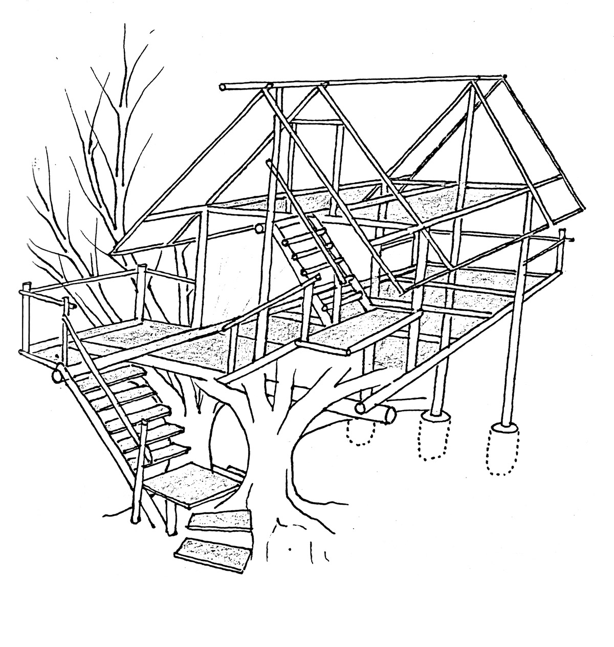 treehouse coloring pages treehouse coloring sheets xyzcoloring coloring treehouse pages