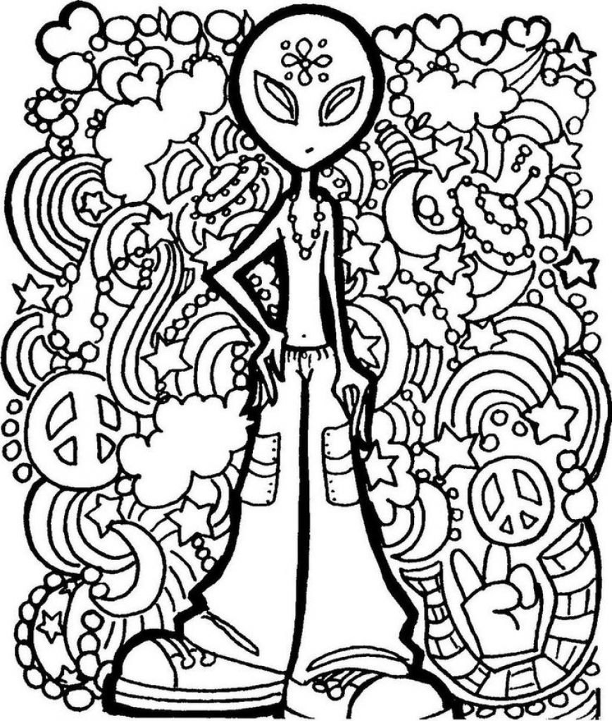 trippy alien coloring pages alien trippy printable coloring page free coloring pages pages alien trippy coloring