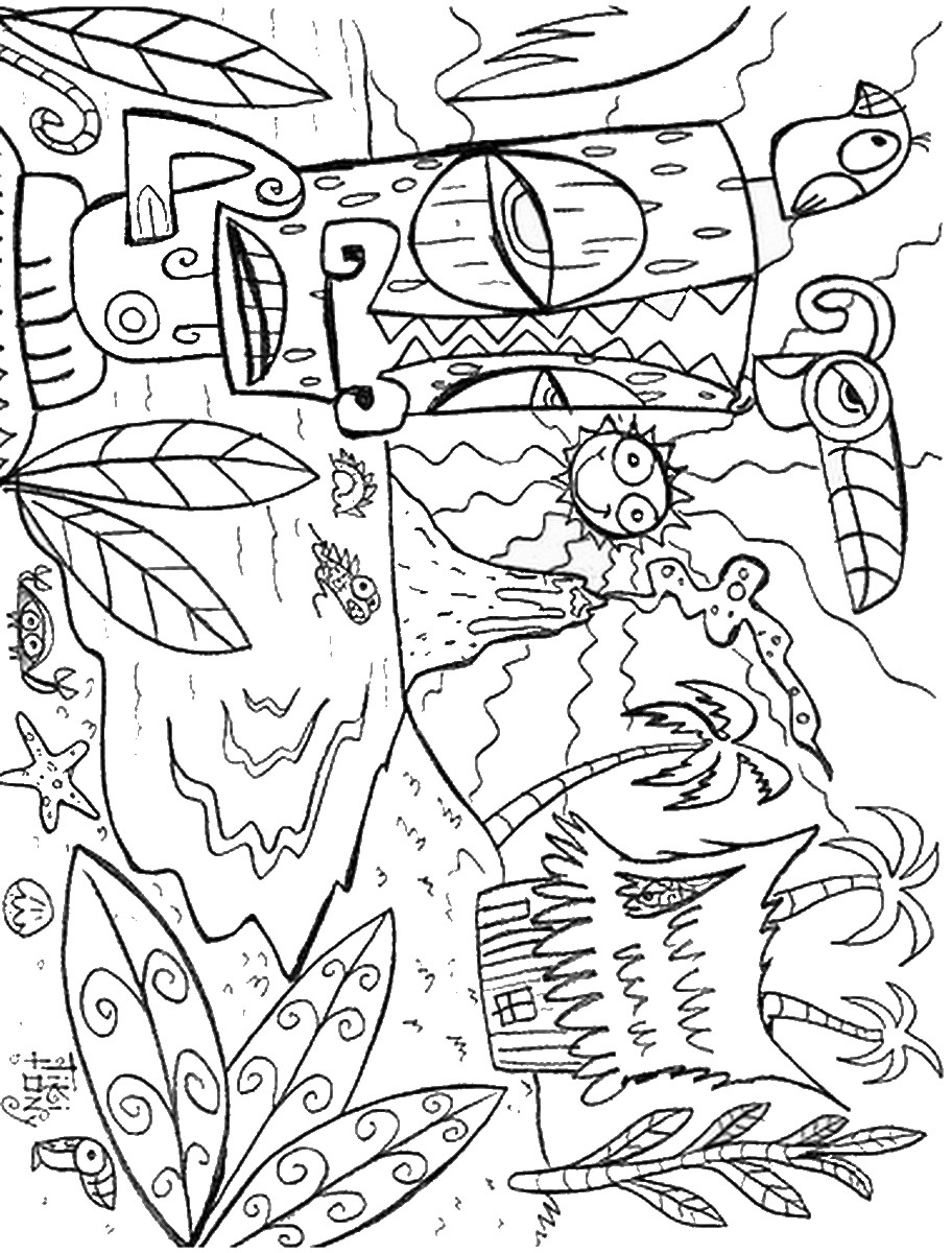 tropical coloring pages luau coloring pages pages tropical coloring