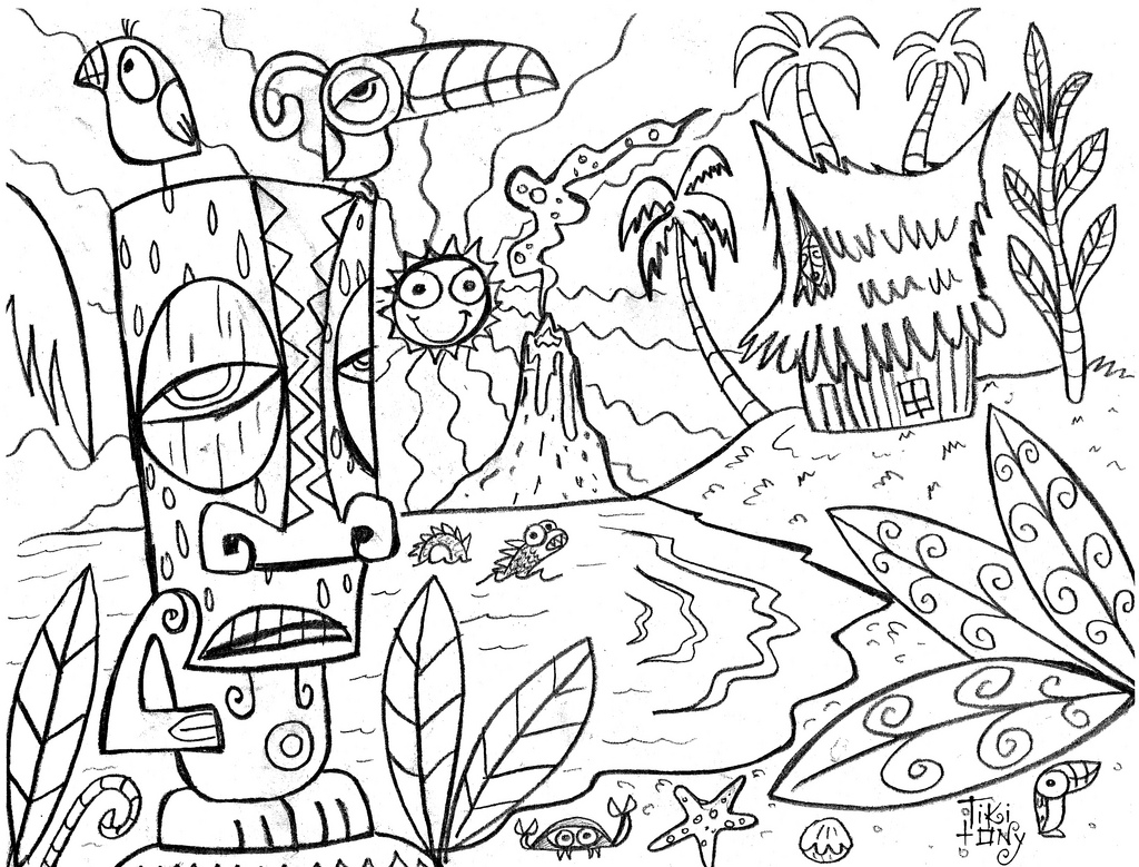 tropical coloring pages tropical flower luau coloring page woo jr kids activities coloring tropical pages