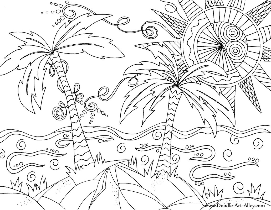 tropical pictures to color tropical beach coloring pages at getdrawings free download tropical color pictures to