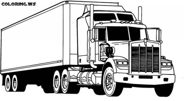 truck coloring pages to print 18 wheeler truck coloring pages truck coloring pages to truck pages coloring print
