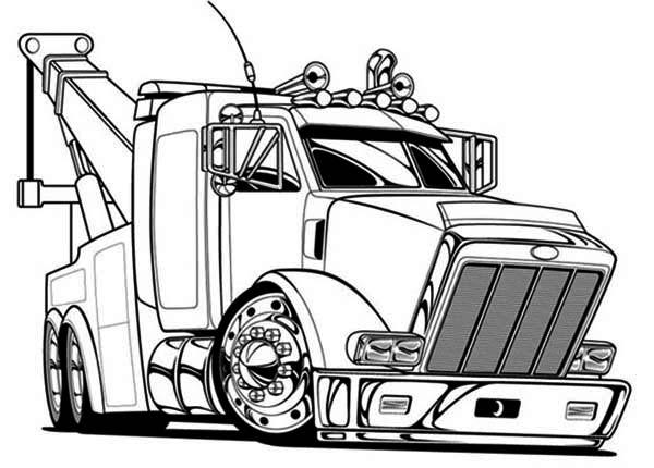 truck coloring pages to print big tow semi truck coloring page netart coloring print pages truck to